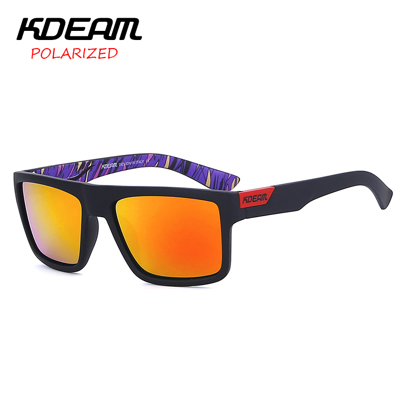 CE 2017 KDEAM Sunglasses Men Sport Sun Glasses Mirror HD Polarized lens Unisex Outdoor Eyewear 5 Colors UV400 With Case KD05X