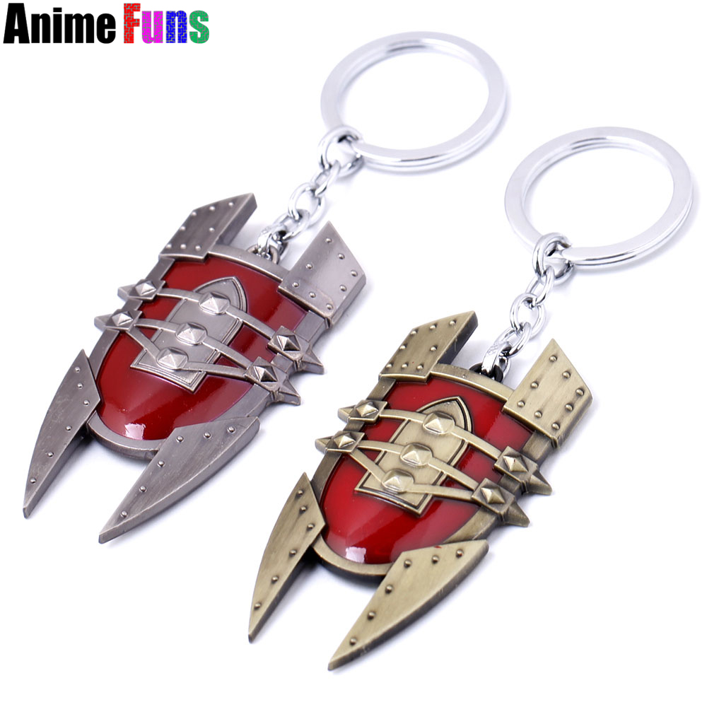 Game LOL Shield keychain League Of Legends Weapon Model Keyring Pendant Key Chain Key Holder Charm Gift souvenir drop-shipping